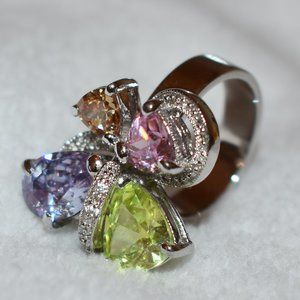 HOST PICK 925SS Ring with Multi-Colored Citrine